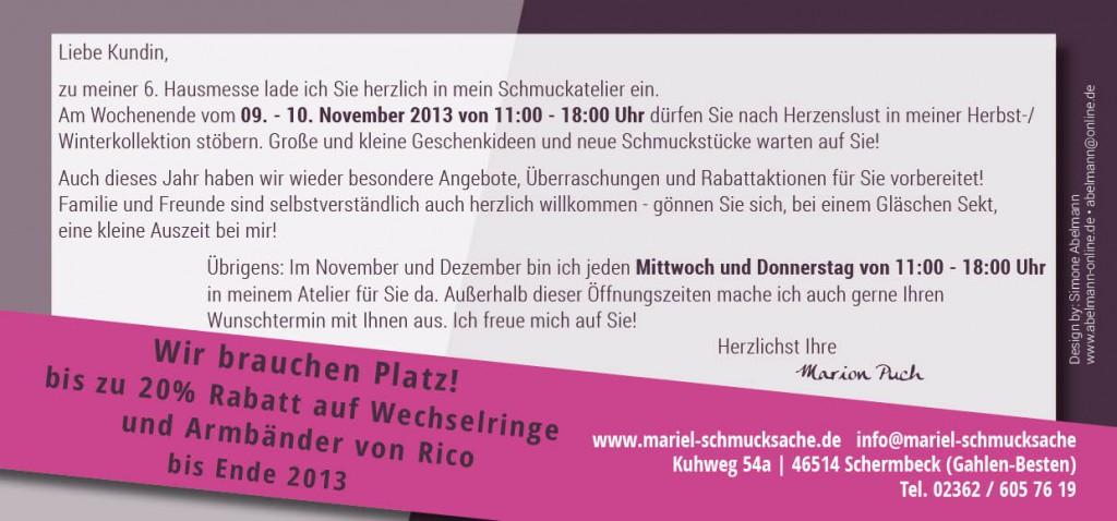 Einladungen, Postkarten, zweiseitige Flyer
