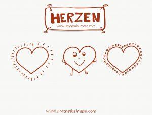 Herzen selber zeichnen