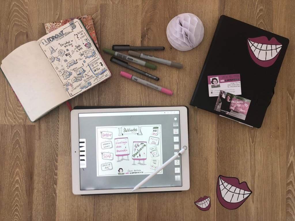 Element von Sketchnotes lernen