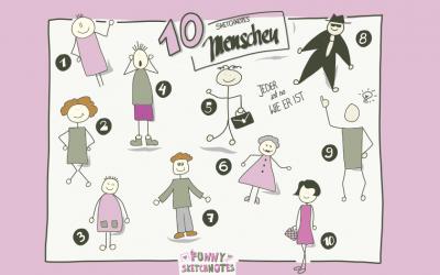 Sketchnotes Menschen zeichnen – ganz einfach mit meinen 10 liebsten Typen