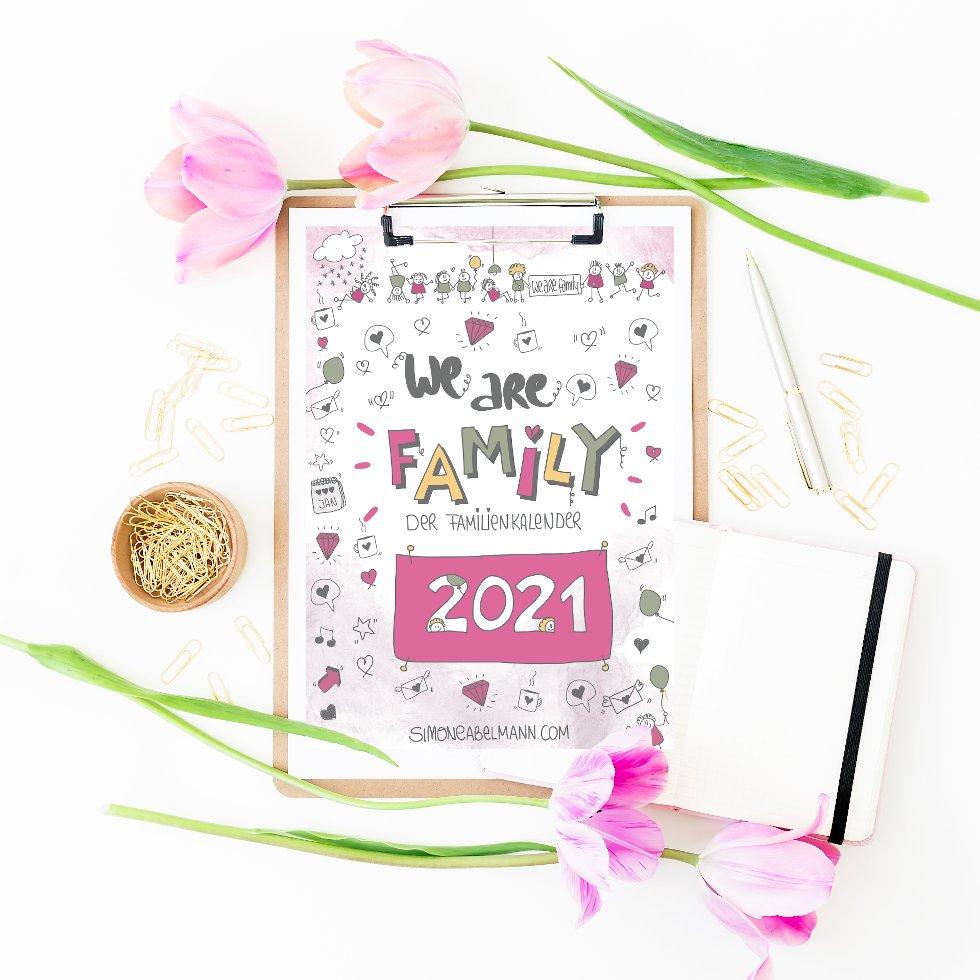 We Are Family - Familienkalender 2021