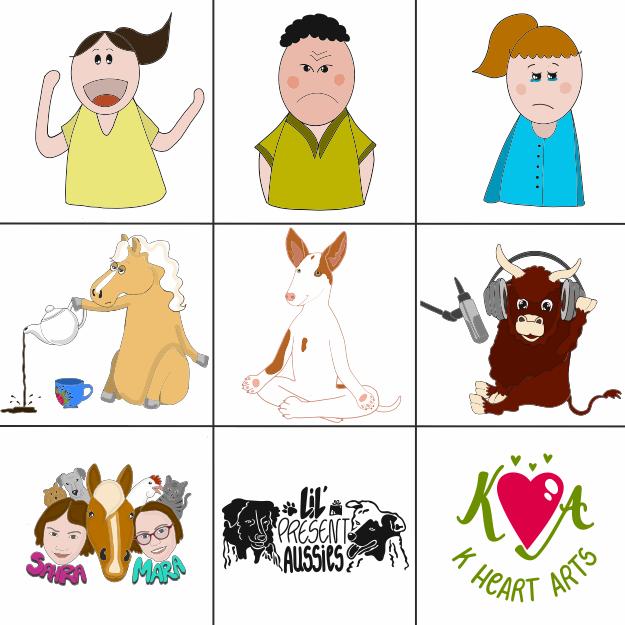 Kerstin Hillar - K Heart Arts - Figuren Sketchnote