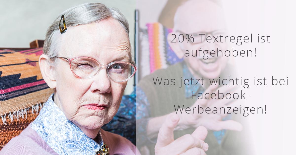 Text auf Facebook-Werbeanzeigen